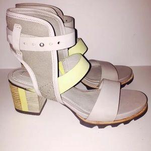 6f574028bae8 Sorel Shoes - Sorel Addington Dove Gray Zest Green Sandals